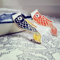 Nishikigoi Pins - Japanese Fish Pin - Koi Pin from Saiko-Path