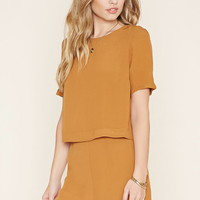 Layered Crepe Romper | Forever 21 - 2000155554