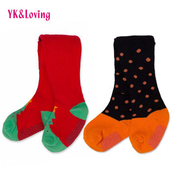 Spring Autumn Cute Toddler Baby Girl Tights Stocking For Newborns Cotton Dot Halloween Christmas Gifts Baby Clothing Bebe 0-2Y