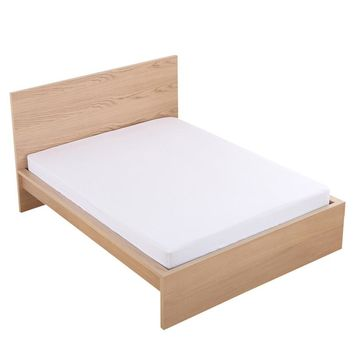 MECEROCK Hot Sale Solid Color Bed Sheet with Elastic Rubber Band Fitted Sheets for Mattress Cover Protector Pad US Queen King