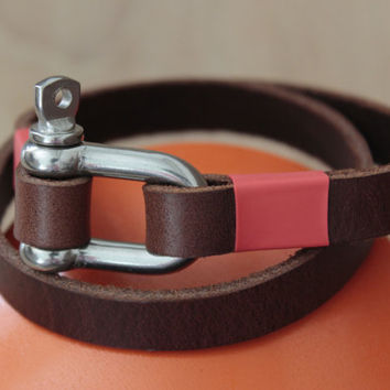 Men's leather bracelet men's bracelet wrap bracelet    (MC-32)