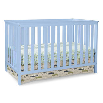 Stork Craft Rosland 3-in-1 Convertible Crib - Sky Blue