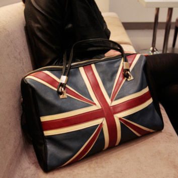 Winter Ladies Bags Vintage Engliand Flag Shoulder Bags [6583181895]