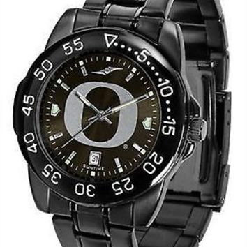 Oregon Ducks Fantom Mens Watch Gunmetal Finish Black Dial
