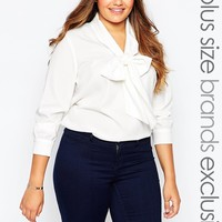 Alice & You Blouse With Scarf Neck at asos.com
