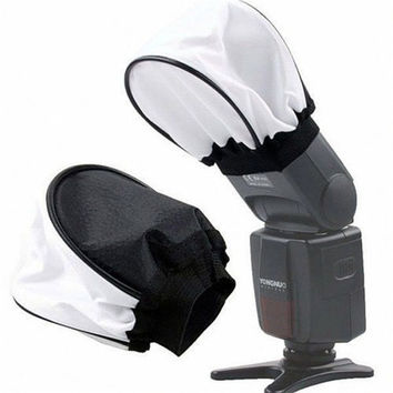 1pc Foldable Cloth Universal Soft Box Flash Bounce Diffuser For Canon 580EX 430EX II/550EX/540EZ (Color: White) = 1714385348