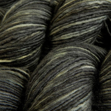 Hand Dyed Yarn - DK Weight Superwash Merino Wool Singles Yarn - Slate Grey Tonal - Knitting Yarn, Wool Yarn, Single Ply Yarn, Grey Gray