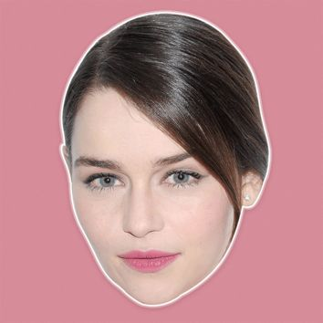 Angry Emilia Clarke Mask - Perfect for Halloween, Costume Party Mask, Masquerades, Parties, Festivals, Concerts - Jumbo Size Waterproof Laminated Mask