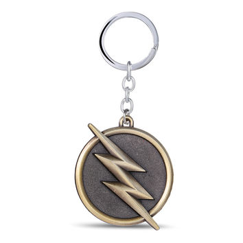 Hot movie Superhero Flash Keychain Bronze Metal Key Rings For Gift Chaveiro Key chain Jewelry YS10875