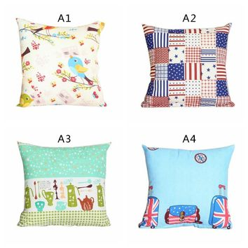 40*40cm Family Cover House Plush Pillow Home Room Office Decoration Throw Home Pillow Cover