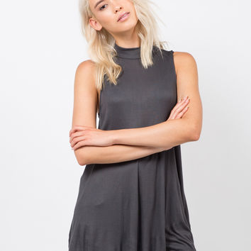 Ribbed Shift Tunic Top