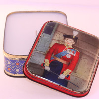 Vintage Queen Elizabeth II Military Tin by CherryBlossomCandles