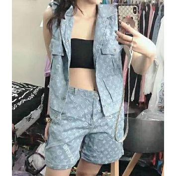 LV trend sells shorts, vest and denim suit N-AG-CLWM