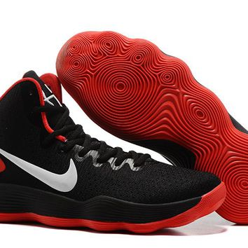 Nike Mens Hyperdunk 2017 Elite Black/Red Basketball Shoes