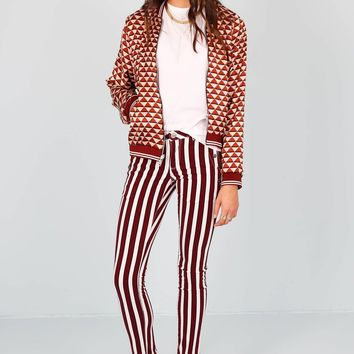 SCOTCH & SODA | Skinny Fit Button Pants - Stripe