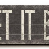 "Let It Be by Artist Misty Diller 14""x32"" Planked Wood Sign Wall Decor Art"