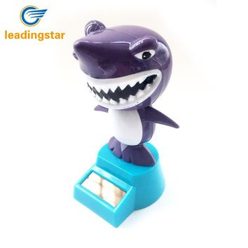 LeadingStar Solar Powered Swing Animal Toys Lovely Novelty Solar Shaking Head Frog Shark Toy Gifts for Children