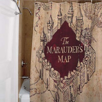 the marauders map, special custom, shower curtains, available size, amazing gift