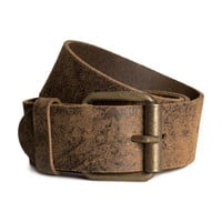 H&M - Leather Belt - Dark brown - Men