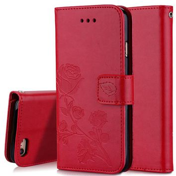 Luxury Leather Phone Case For iPhone 5 5S SE 6S 7 6 Plus Case Leather Cover Pouch Card Holder Leather Case For iPhone 5 5S SE
