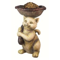 SheilaShrubs.com: Cat and Mushroom Birdfeeder 2BF609 by Evergreen Enterprises: Seed Feeders