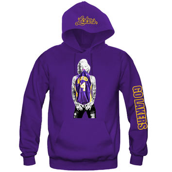 "Marilyn Monroe Lakers Hoodie ""3 Prints"" Sports Clothing"