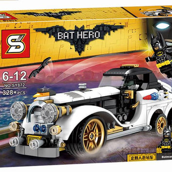 SY872 Marvel Avengers Super Heroes Genuine Batman Movie The Arctic War Penguin Classic Car Building Blocks Bricks Toys 07047