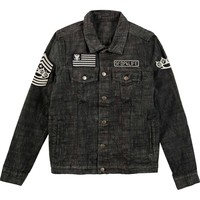 Five Finger Death Punch Men's  Eagle Seal Denim Jacket Denim Jacket Denim