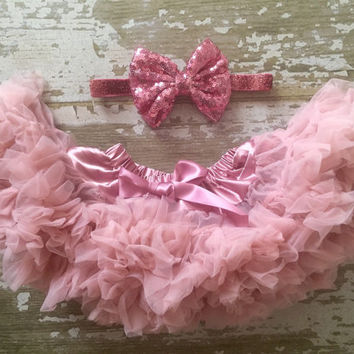 Blush chiffon pettiskirt, kids, petti skirt,holiday, Birthday, pink, baby, chiffon girls skirt, toddler, baby, fluffy