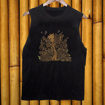 Groot Of Life black tanktop for men and women