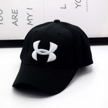 PEAPDQ7 Hot Sale Under Armour Enbroidery Baseball Cap Hats- Black
