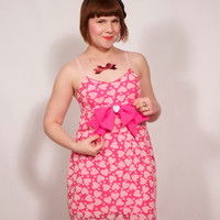 Bright Magenta Babydoll Dress