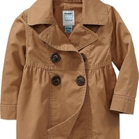 Twill Trench Coats for Baby