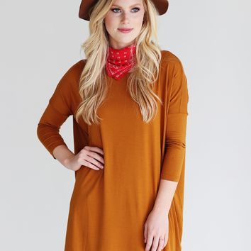 Gold PIKO 3/4 Sleeve Tunic