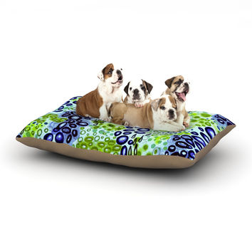"Ebi Emporium ""Circular Persuasion Blue Green"" Aqua Turquoise Dog Bed"