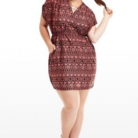 Plus Size Montego Printed Dress | Fashion To Figure
