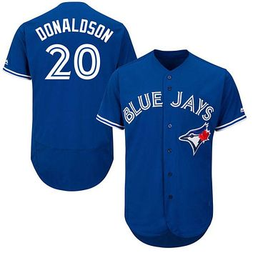 2016 Torontos Mens Flexbase Version 20 Josh Donaldson Jersey Color Red Blue Gray White Throwback Jerseys