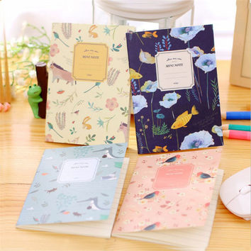 Cute Kawaii Cartoon Animal Notebook Lovely Flower Notepad For Kids Student Gift Korean Stationery Free Shipping 2305