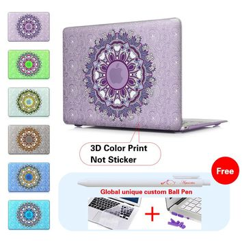Floral Paisley 2016 New Laptop Case For Apple Mac Macbook Air 13 Case Air 11 Pro 13 Retina 12 13 15 A1706 A1707 A1708 Touch Bar