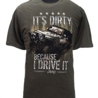 It's Dirty Because I Drive It Jeep Tee | T-Shirts, Shirts, and Hoodies | Jeep Apparel | My Jeep Accessories
