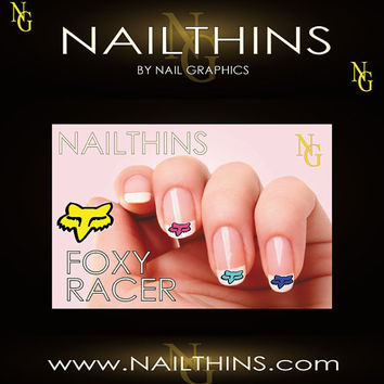 FOXY RACER 20 Nail Decal Nail Art  Nail Design
