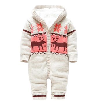 Winter Knitted Baby Snowsuits
