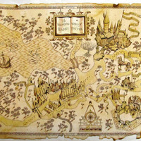 The Wizarding World of Harry Potter Map, Matte Canvas Print, Home Decor Canvas