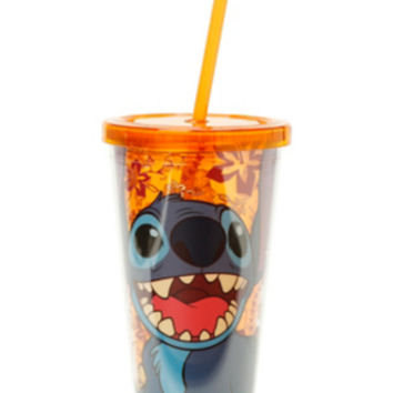 Disney Lilo & Stitch Happy Orange Acrylic Travel Cup
