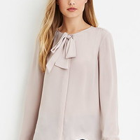 Bow-Front Blouse