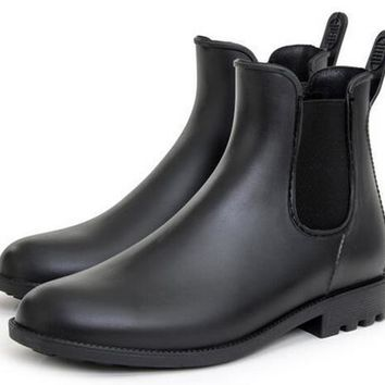 Fashion New Mens Rain Boots Fishing Rain Boots Water Shoes Flats Waterproof Ankle Boot