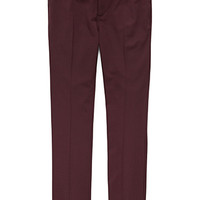 Crisp Woven Dress Pants Burgundy