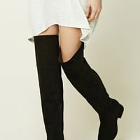 Faux Suede Knee-High Boots