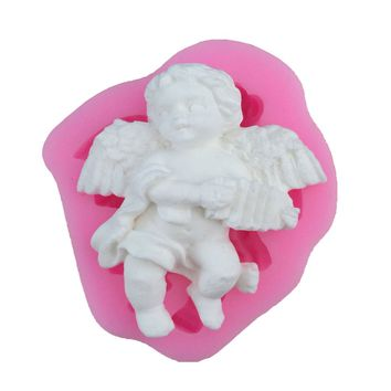 NEW Angel Boy Shape 3D Silicone Cake Mold Soap Candle Molds Kitchen Baking Fondant Cake Decorating Tools