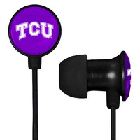 TCU Horned Frogs Scorch Earbuds + Mic with BudBag